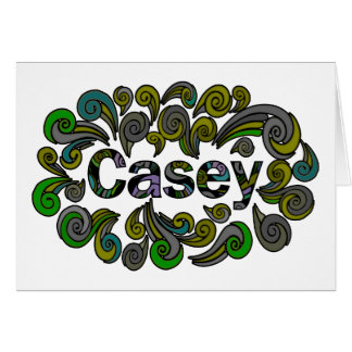 Swirly Happy Easter for Casey Card