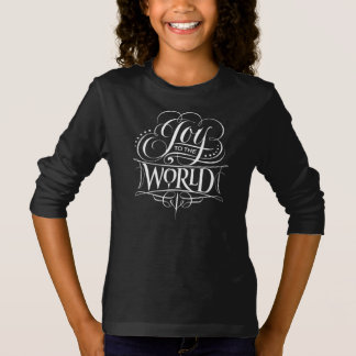 Swirly Joy to the World Chalk Christmas Lettering T-Shirt