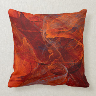 Swirly Love in Deep Red Throw Pillow