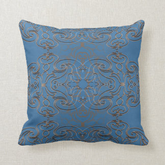 Swirly Metal and Blue Sky Throw Pillow