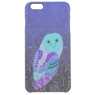 Swirly Owl Clear iPhone 6 Plus Case
