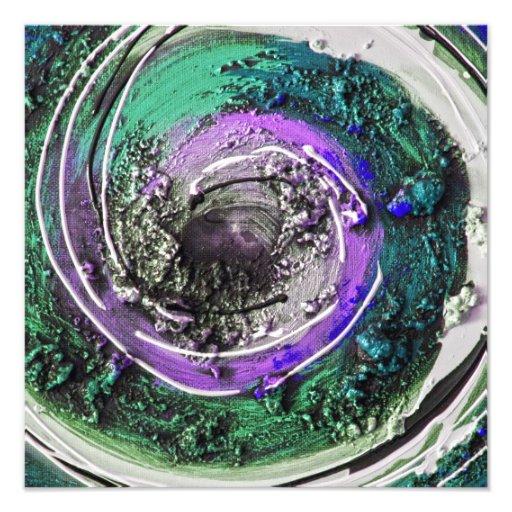 Swirly Paint Daubs Art Photo
