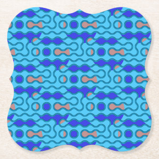 swirly paper coaster