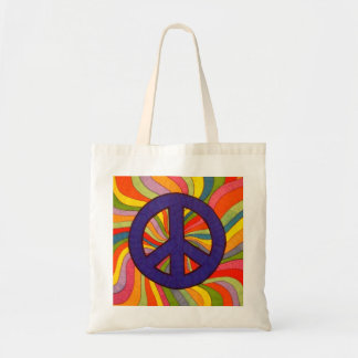 Swirly Peace Tote Bag
