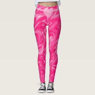 Swirly Pink Heart Leggings