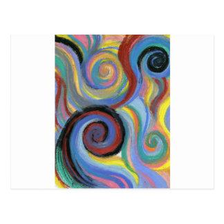 Swirly Postcard