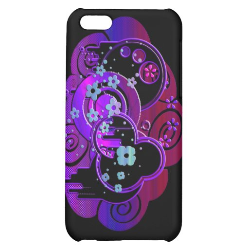 Swirly Purple Case For iPhone 5C