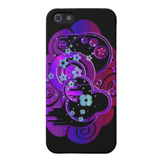 Swirly Purple Cover For iPhone 5