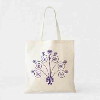 Swirly-Q Bag in Purple