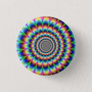 Swirly Rainbow Button