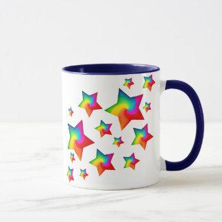 Swirly Rainbow Stars Mug