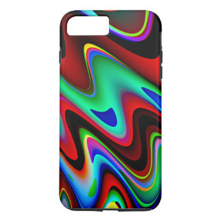 Swirly Red Black Blue Abstract iPhone 7 Plus Case