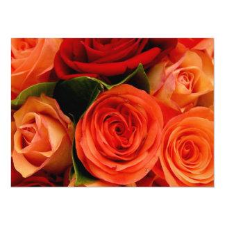 "Swirly Roses Bouquet 5.5"" X 7.5"" Invitation Card"