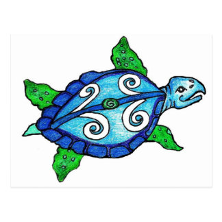 Swirly Sea Turtles Postcard