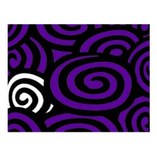 Swirly Sue Purple Post Card