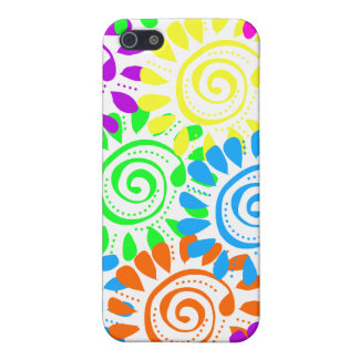 Swirly Sunshine Flowers Case For The iPhone 5