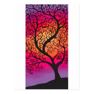 Swirly Tree Postcard