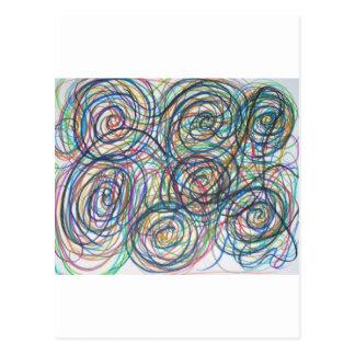 Swirly Twirly Postcard