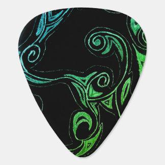 Swirly Vines Guitar Pick (GB Edition)