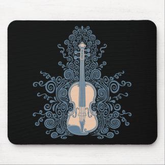 Swirly Violin Mouse Pad