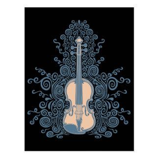 Swirly Violin Postcard
