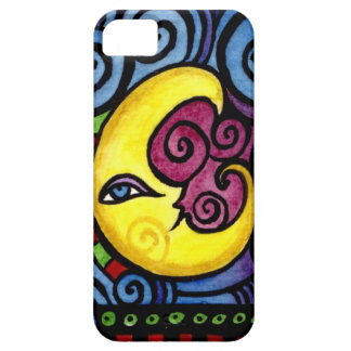 Swirly Whimsical Moon iphone case