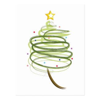 Swirly Xmas Tree Postcard