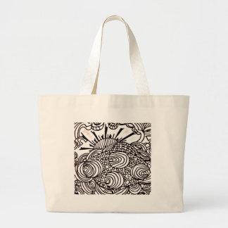 swirlysun large tote bag