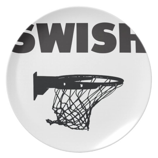 Swish basketball plate