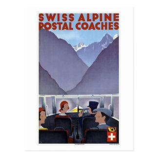 Swiss Alpine Postal Coaches Switzerland Postcard