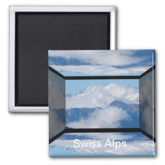 Swiss Alps by Khoncepts Square Magnet
