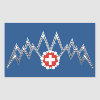 Swiss Alps Sticker. Sticker