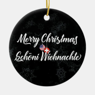 Swiss American Bilingual Holiday Decoration