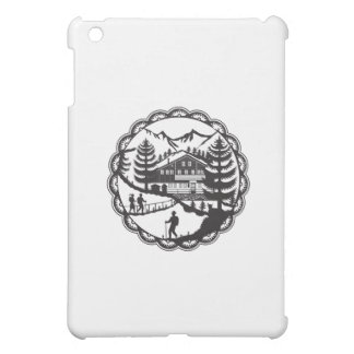 Swiss Chalet Alpine Hiker Decoupage iPad Mini Cases