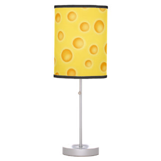 Swiss Cheese Cheezy Texture Pattern Table Lamp