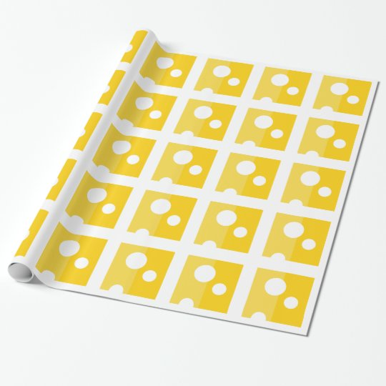Swiss Cheese Funny Wrapping Paper Kawaii Food