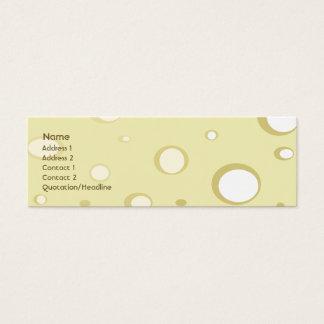 Swiss Cheese - Skinny Mini Business Card