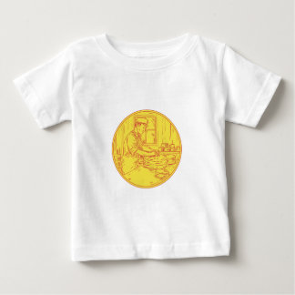 Swiss Cheesemaker Traditional Cheese Circle Drawin Baby T-Shirt