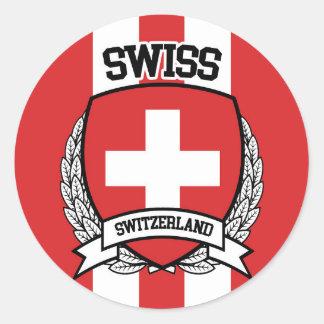 Swiss Classic Round Sticker