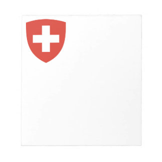 Swiss Coat of Arms Shield Notepad