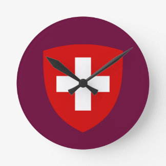 Swiss Coat of Arms - Switzerland Souvenir Wall Clocks