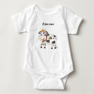 Swiss cow baby Jersey bodysuit