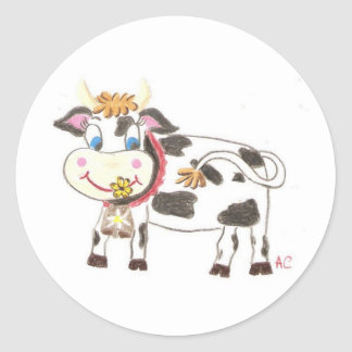 Swiss cow stickers