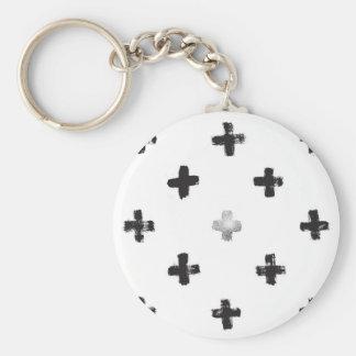Swiss Cross Pattern Keychain