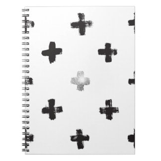 Swiss Cross Pattern Notebooks
