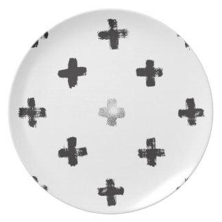 Swiss Cross Pattern Plate