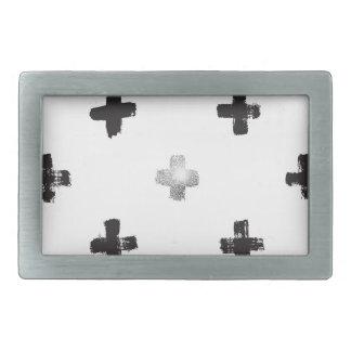 Swiss Cross Pattern Rectangular Belt Buckles