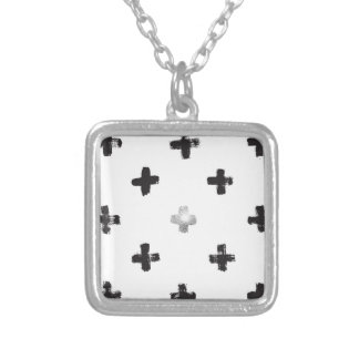 Swiss Cross Pattern Silver Plated Necklace