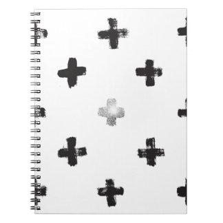 Swiss Cross Pattern Spiral Notebooks