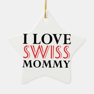 SWISS Design Ceramic Ornament